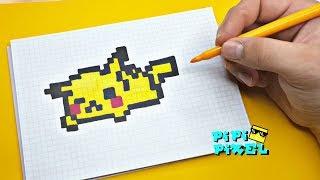 Покемон Детектив Пикачу ! РИСУНКИ ПО КЛЕТОЧКАМ ! PIXEL ART  Detective Pikachu