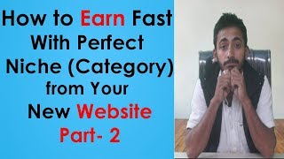 How To Get Good Traffic & Earn Fast With Perfect Niche(Category) For Your Website Hindi