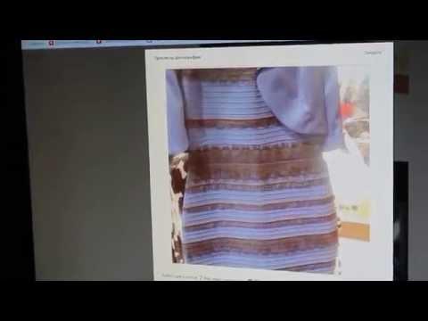 Какого цвета платье ??? ( сине-черное или бело-золотое )