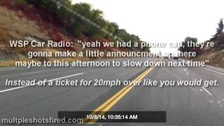 Washington State Patrol Aircraft catches multiple police cars speeding and does nothing.