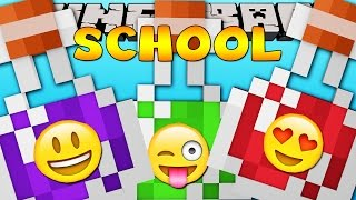 Minecraft School  : FUNNY POTIONS TEST!
