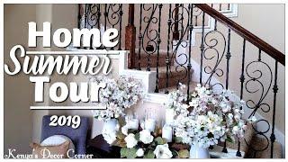 Summer Home Decor Tour 2019 | Coastal Cottage Farmhouse Decor | Front and Back Porch Decor