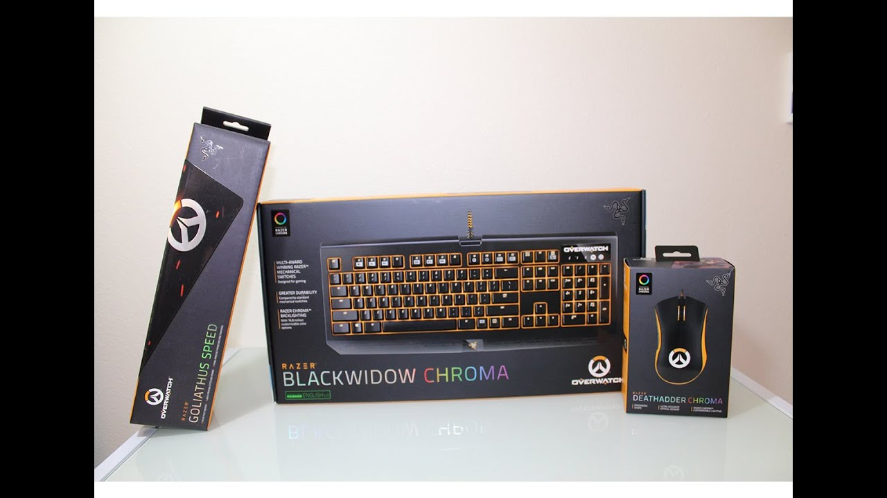 Razer Overwatch Keyboard, Mouse and Mouse Pad Unboxing + Action Demo!