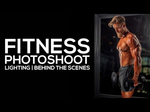 Photography Lighting | Fitness Photoshoot | BTS Gym Shoot