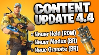 ❌ CONTENT UPDATE 4.4 | NEUER HELD IM SHOP 😍 & STINKBOMBEN ATTACKE! 😨 | FORTNITE