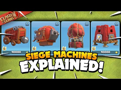 All 4 Siege Machines Explained - Basic To Advanced Tutorial (Clash Of Clans)