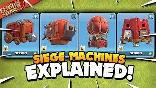 Download All 4 Siege Machines Explained - Basic to Advanced Tutorial (Clash of Clans)