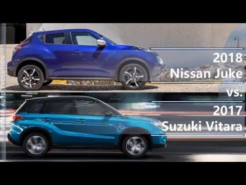 2018 Nissan Juke vs 2017 Suzuki Vitara (technical comparison)