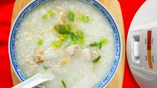 Easy Chicken Congee in Rice Cooker