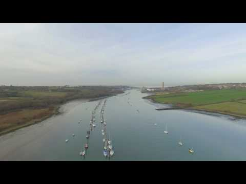Dji Phantom 3 @ Island Harbour to Cowes, 4K