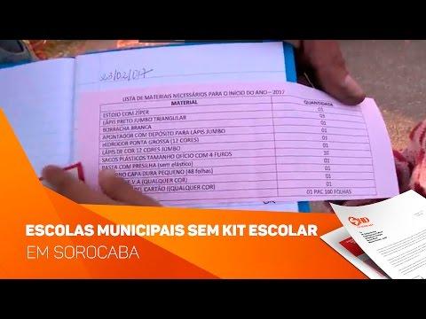Escolas Municipais sem Kit escolar em Sorocaba  - TV SOROCABA/SBT