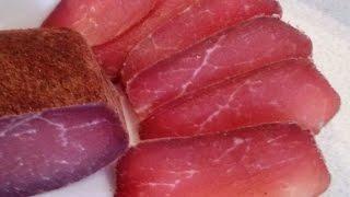 Замечательный рецепт вяления мяса  Домашние деликатесы