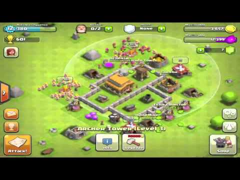 BEST Clash of Clans Defense Strategy for Town Hall Level 3!!!
