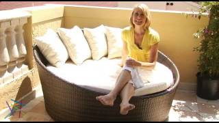 Lotus All Weather Wicker Outdoor Daybed - Product Review Video