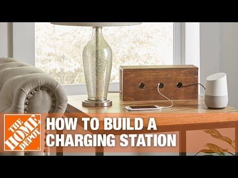 Easy DIY Phone Charging Station to Help Hide Cords