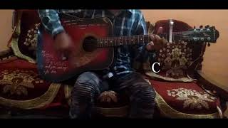 """Dhadke Jiya""Song Of ""Xulfi""/Aloo Chaat/Easy Guitar Chords/Full Lesson/Tutorial/Guitar Cover/Intro"