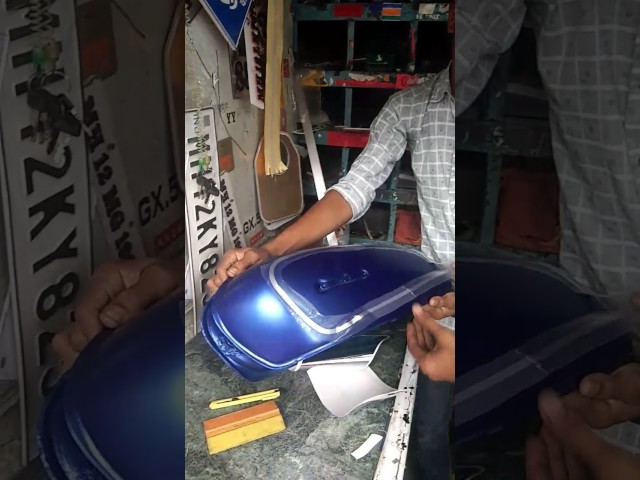 Hand made RX 100 fuel tank lining