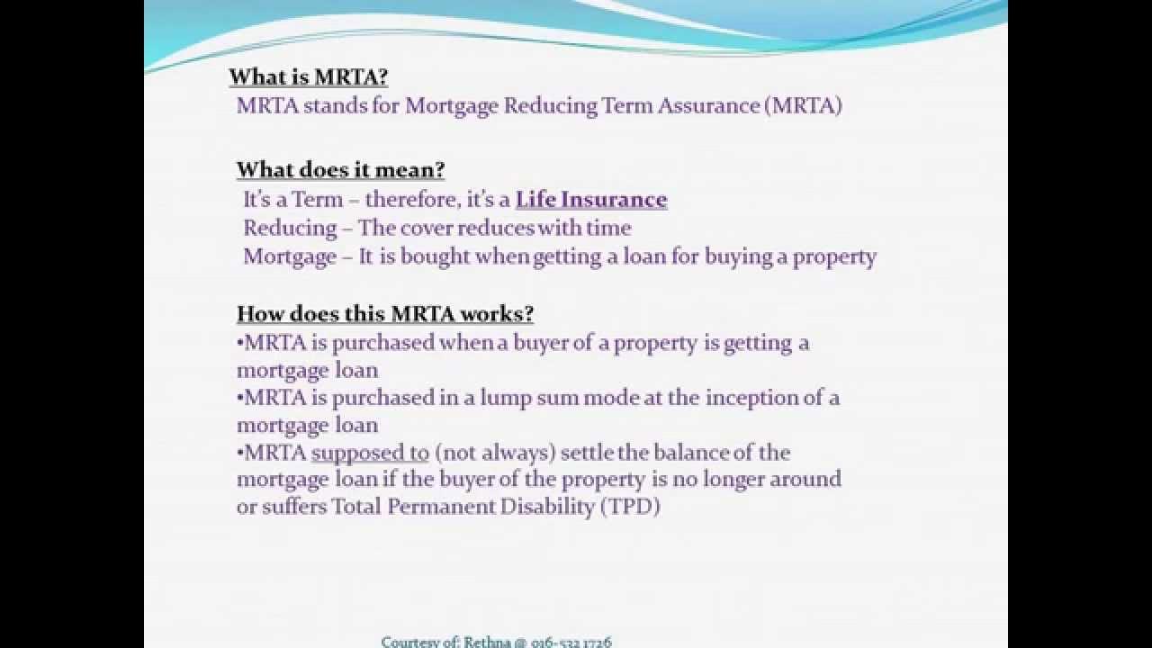 Housing Loan & MRTA vs Life Insurance - YouTube