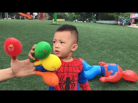 Thumbnail: Finger Family Song Spiderman Kids for Learn Colors Baby Songs Nursery Rhymes | The Surprise For Kids