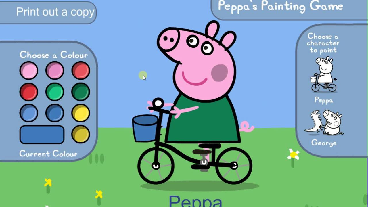Peppa Pig Paint And Colour Games Online - Peppa Pig Painting Games ...