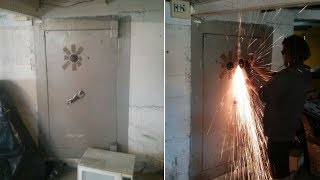 These Guys Found This Giant Safe In A Former Gang House And Were Determined To Break It Open