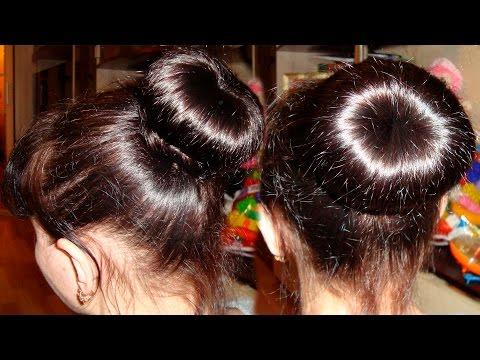 Губки, бублики или пончики разной длины для волос (aliexpress). Причёска пучок