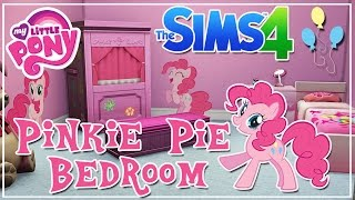 My Little Pony Pinkie Pie Themed Kids Bedroom || The Sims 4 Room Speed Build + CC Link