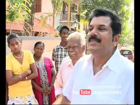 With the candidate  Mukesh | Kollam Assembly Constituency | 26 Apr 2016