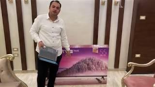 LG TV Smart 55UM7340PVA unboxing فتح صندوق وتركيب شاشه