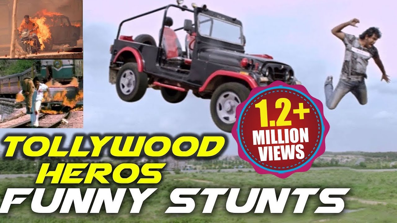 Download Tollywood Heros Funny Stunts || Funny Action Scenes