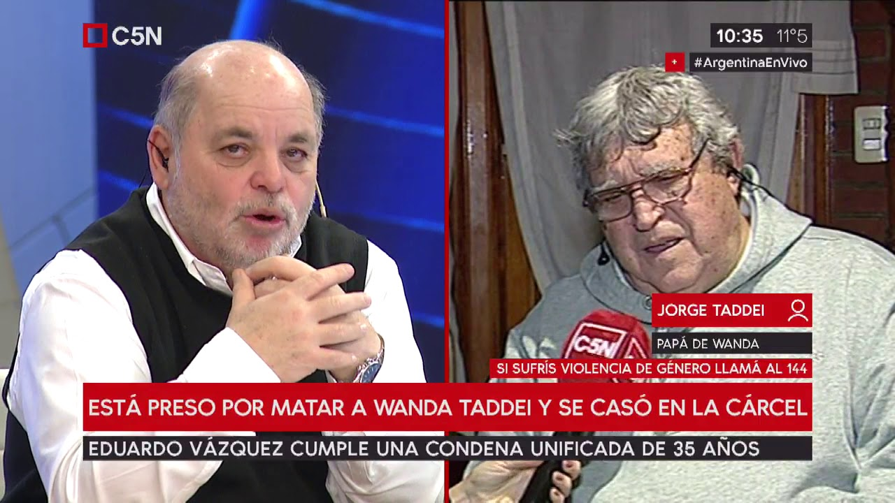 Vázquez está preso por matar a Wanda Taddei y se casó en la cárcel