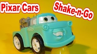 Pixar Cars Shake and Go Young Tow Mater with Chick Hicks and Professor Zee