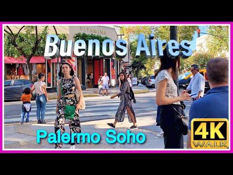 【4K】WALK Buenos Aires Palermo Soho VIRTUAL WALK