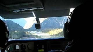 Flying into Milford Sound in a Cessna