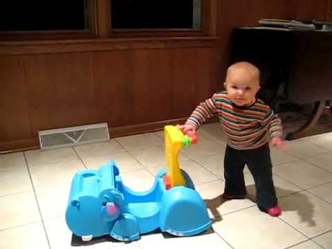 Grace And Her Hippo Walker