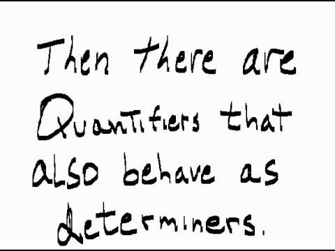Linguistics Determiners 01