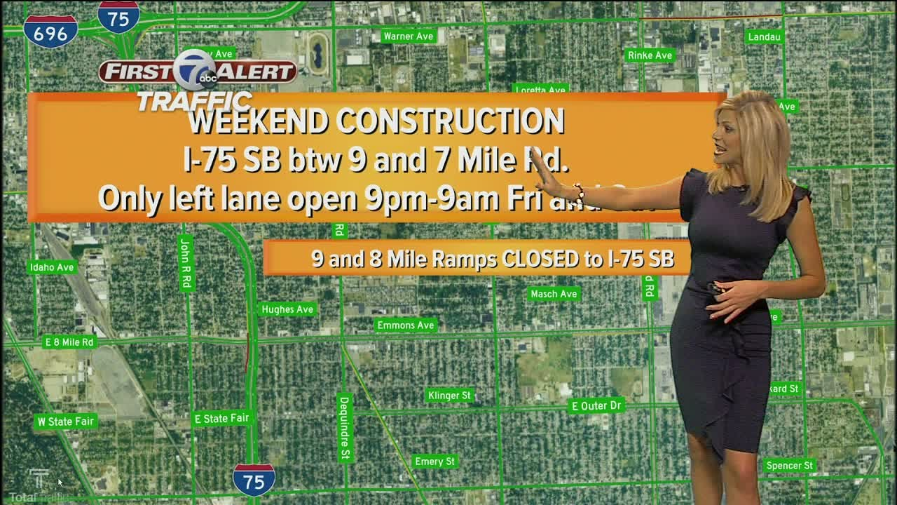 7 First Alert Traffic: Your weekend construction report from Ann Marie  LaFlamme
