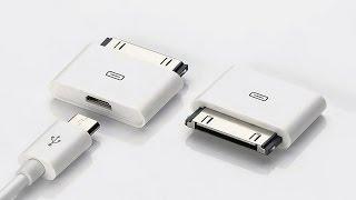 Адаптер Micro USB для iPhone 4 с АлиЭкспресс