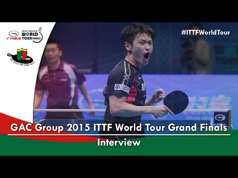 2015 ITTF World Tour Grand Finals Interview - Yuya Oshima