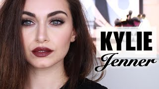 Kylie Jenner Makeup Tutorial 2015   2 Lip Combos - Mauve & Matte Brown   RubyGolani