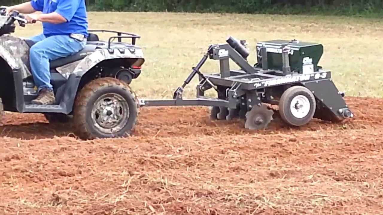 Planting A Food Plot With The Atv Firminator Part 1 Youtube