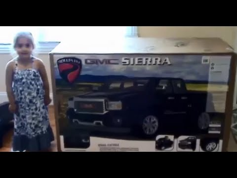 RollPlay 12v GMC Denali Ride on  4 year old doing the install    YouTube