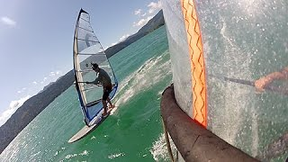 windsurfing at lake walchensee in august 2012.mov