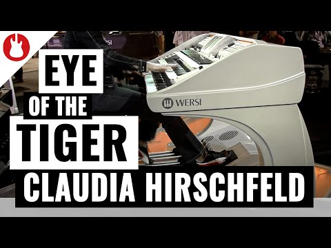 Musikmesse 2012 - Claudia Hirschfeld bei WERSI - Teil 2 - Live 'Eye of the Tiger'
