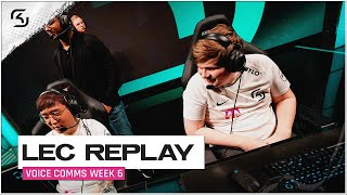 REPLAY: SK vs XL & MAD Voice Comms | SK LEC SUMMER W6