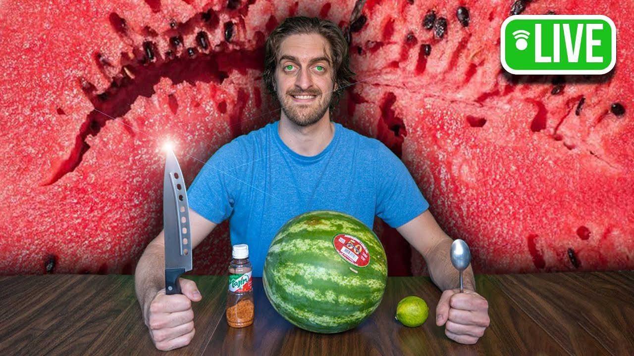 Eat Watermelon With Me LIVE Mukbang