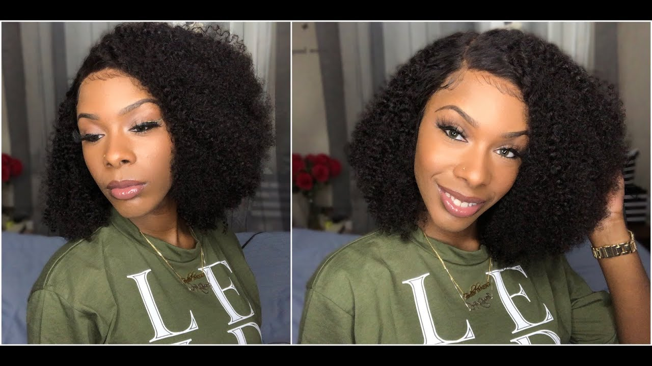 Simply Curly Wig For Everyday Ywigs Glueless Kinky Curly Bob Wig Human Hair 13 X 6 Lace Front Wig Youtube