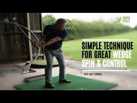 Golf swing technique for pitching to get backspin and distance control with wedges