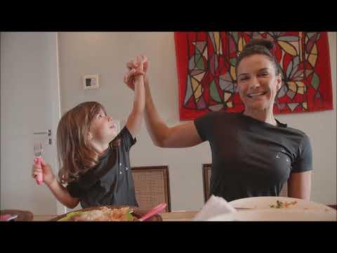 Kyra Gracie, Malvino Salvador e a importância da boa alimentação em família