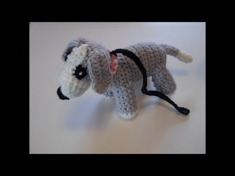 Amigurumilacion : Walking the dog for dolls how to crochet the puppy dog part 3 of
